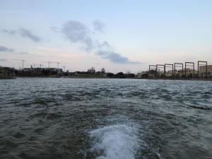 el lago en movimiento