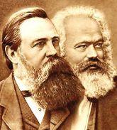 Engels (izq) y Marx (der.)
