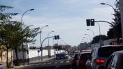 Calle cortada y semáforo. 2015