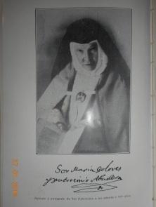Retrato y firma de Sor Patrocinio