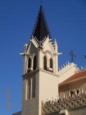 Capilla Castrense, torre dañada