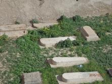 Detalle de las tumbas