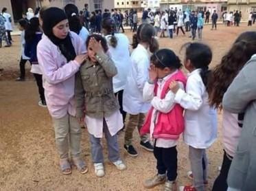 Escolares marroquíes, clases suspendidas