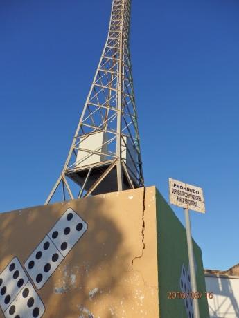 Torre de alumbrado, estadio de fútbol