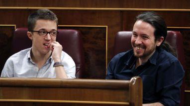Errejón e Iglesias en el Parlamento