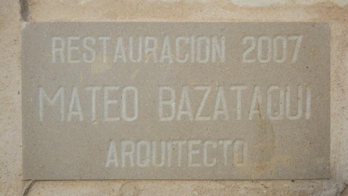 Placa de la restauración