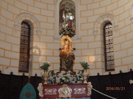 La Patrona en el templo Arciprestal