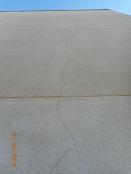 Grieta, muro lateral