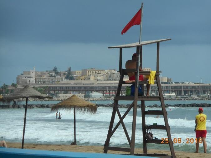 Banderas rojas en Melilla