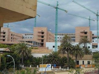 Las grúas del hospital
