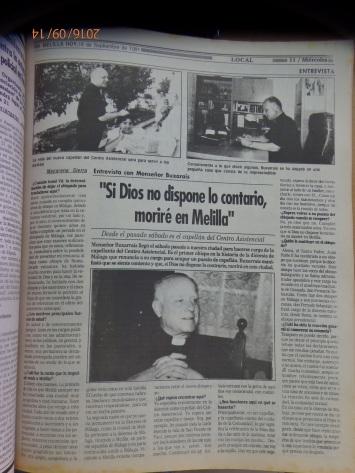 Ramón Buxarrais, 1ª entrevista en Melilla