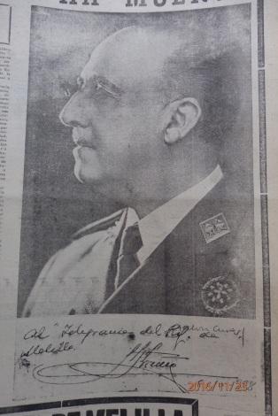 Franco al Telegrama del Rif