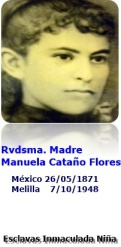 Estampa Madre Manuela Cataño