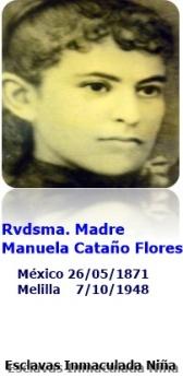 Estampa Madre Manuela Cataño