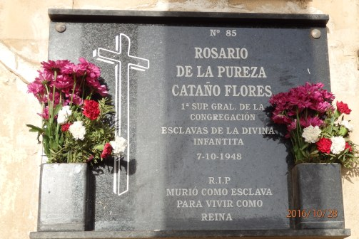 Madre Manuela Cataño, sepultura