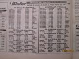 Cuadro de vuelos, Binter año 2000