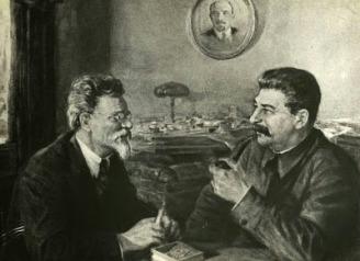 Iosif Stalin y León Trotsky