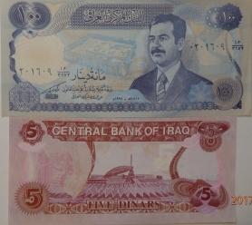 Billetes de Saddam Hussein