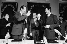 Saddam Hussein y Jacques Chirac