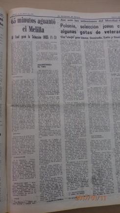 Crónica del encuentro, 1982