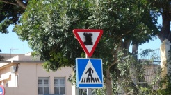 Icono emborronado, calle Mustafa Arruf