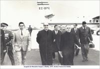 Llegada a Melilla de Monseñor Suquía