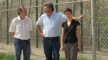 Manuel Soria en la valla de Melilla