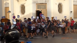 Protesta contra fernández Díaz