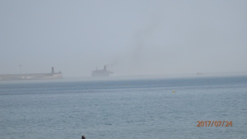 Barco entre brumas
