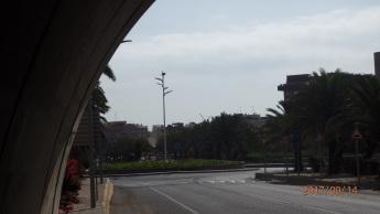 Salida túnel del aeropuerto y rotonda