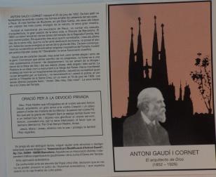 Estampa de Antoni Gaudí