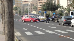 Accidente en la rotonda