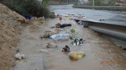 Canal de evacuación, carretera del Polvorín
