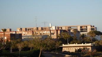 Hospital desde el Parque Forestal