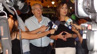 Presidente Imbroda y paz Velázquez