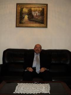 Aomar Duddú en su domicilio de Melilla