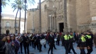 Banda de música y público almeriense