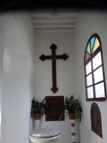 Baptisterio, lugar de la aparición