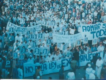 Manifestación 23 de noviembre 1985