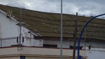Cuartel Pedro de Estopiñán, uralita en hudimiento