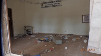 Interior edificio de Correos