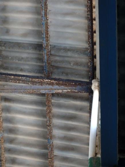 Corrosión en el techo