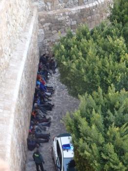 Agrupamiento en la muralla