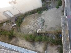 Colegio España, restos de uralita