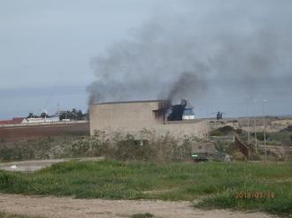 Incendio en el depósito abandonado