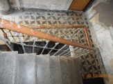 Escalera interior, pasamanos de forja