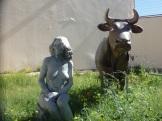 La mujer y la vaca. 2018