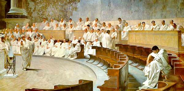 Catilina ante el Senado de Roma