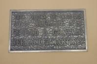 Placa de inauguración