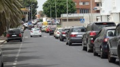Colapso de tráfico en explanada de San Lorenzo